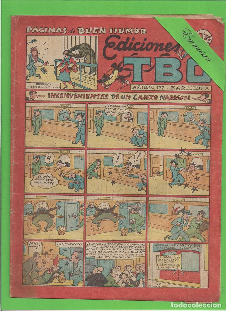 TBO - Nº 75 - INCONVENIENTES DE UN CAJERO NARIGÓN - BUIGAS - (1949). (Tebeos y Comics - Buigas - TBO)