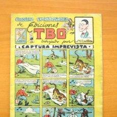 Tebeos: CUADERNO EXTRAORDINARIO DE EDICIONES TBO, Nº 4 CAPTURA IMPREVISTA - EDITORIAL BUIGAS 1947, VER FOTOS. Lote 132779730