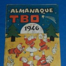 Tebeos: (M1) ALMANAQUE TBO 1946 , PORTADA MUNTAÑOLA , ORIGINAL, SEÑALES DE USO CON ROTURITAS. Lote 142454342