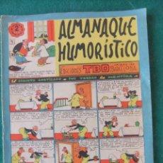 Tebeos: ALMANAQUE HUMORISTICO EDICIONES TEBEO 1957 BUIGAS. Lote 144933318