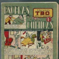 Tebeos: ESCENAS COMICAS TBO Nº 6 - EDICIONES TBO 1944 - DON RODRIGO APROVECHA LA OCASION - ORIGINAL - UNICO. Lote 147746982