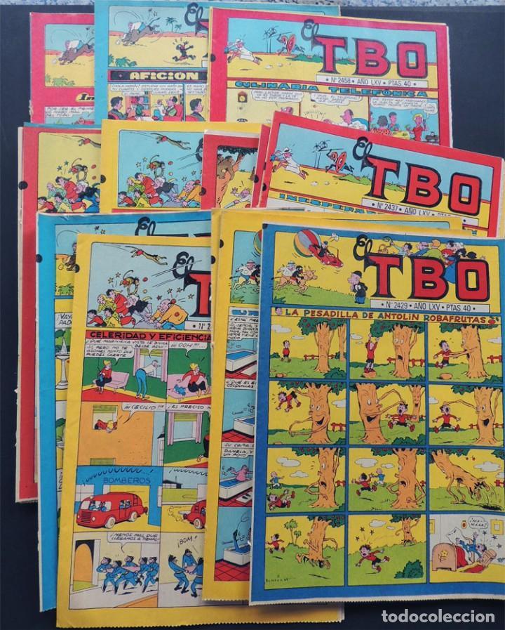 LOTE DE 22 EJEMPLARES DIFERENTES DEL TBO / REEDICION DE 1981 CON LOS NUMEROS CLASICOS DE LOS AÑOS 50 (Tebeos y Comics - Buigas - TBO)