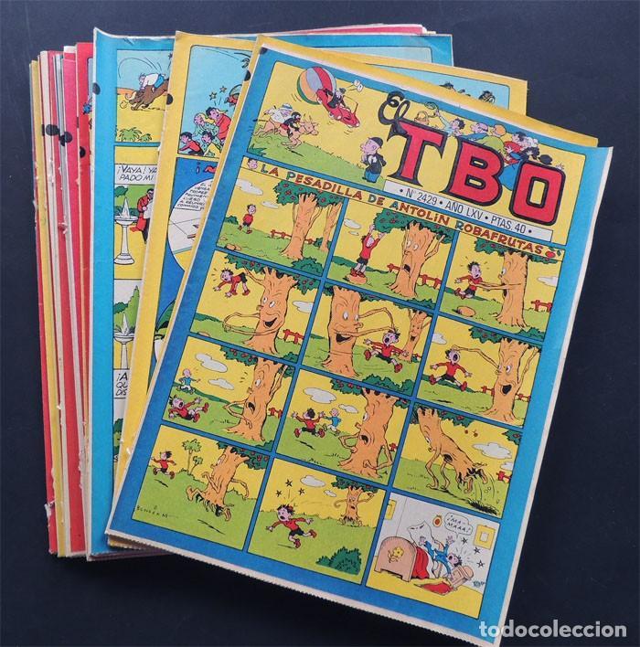 Tebeos: LOTE DE 22 EJEMPLARES DIFERENTES DEL TBO / REEDICION DE 1981 CON LOS NUMEROS CLASICOS DE LOS AÑOS 50 - Foto 2 - 151624182