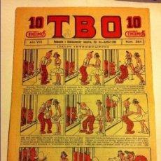 Tebeos: TBO - Nº. 384- AÑO VIII- AÑO 1924- PRECIO 10 CÉNTIMOS - (PORTADA OPISSO. Lote 153937030
