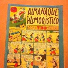 Tebeos: TBO- ALMANAQUE HUMORÍSTICO 1950 (1,50 PTA.) - MUY BIEN CONSERVADO. Lote 155413738