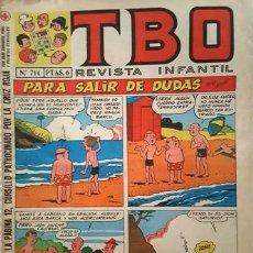 Tebeos: EL TBO Nº 714 - AÑO LV - DE BUIGAS -. Lote 156730502