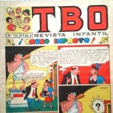 Tebeos: EL TBO Nº 733 - AÑO LV - DE BUIGAS -. Lote 156731462