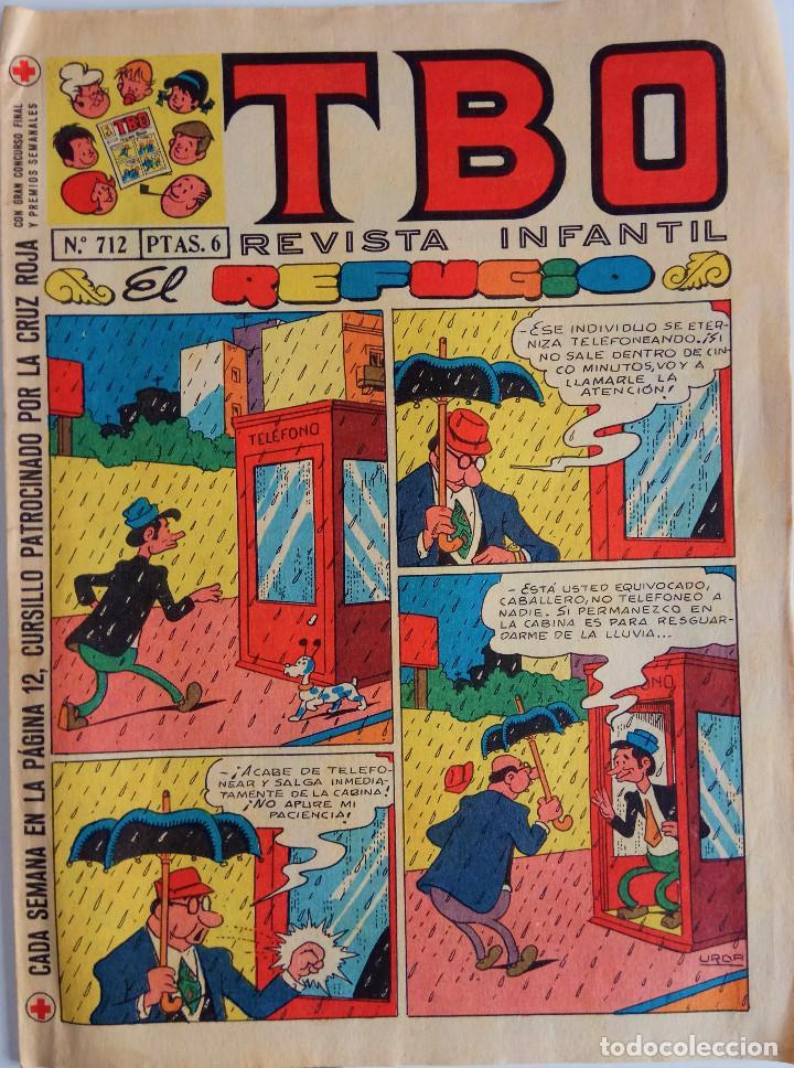 COLECCIÓN TBO Nº 712 - EL REFUGIO - AÑO 1971 (Tebeos y Comics - Buigas - TBO)