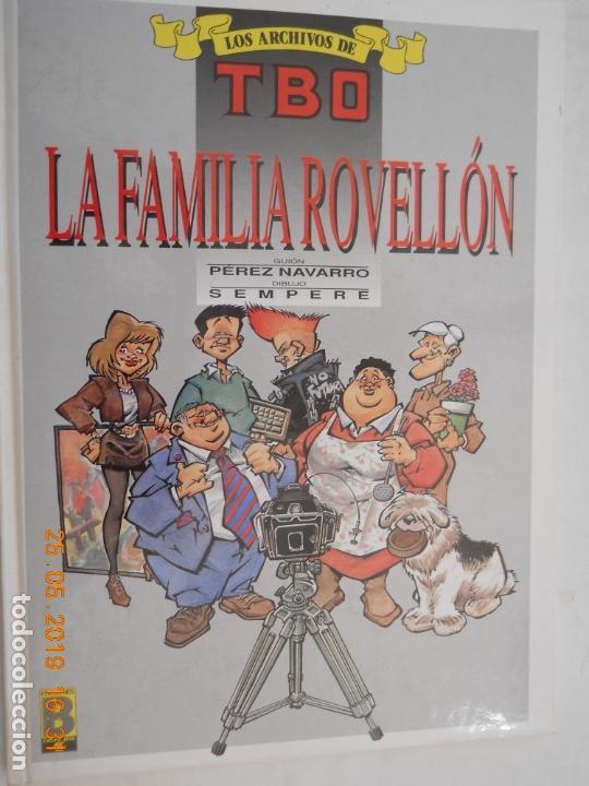 LOS ARCHIVOS DE TBO , LA FAMILIA ROVELLON Nº 4 1º EDICION MAYO 1990 (Tebeos y Comics - Buigas - TBO)