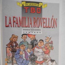 Tebeos: LOS ARCHIVOS DE TBO , LA FAMILIA ROVELLON Nº 4 1º EDICION MAYO 1990 . Lote 166431190