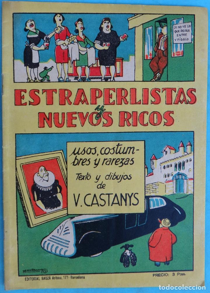 ESTRAPERLISTAS Y NUEVOS RICOS, HUMOR , ANTIGUO , ORIGINAL , CT1 (Tebeos y Comics - Buigas - Otros)