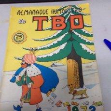 Tebeos: ALMANAQUE HUMORÍSTICO 1972 TBO. Lote 169723128