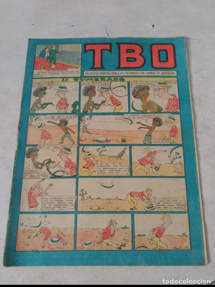 TBO 2ª ÉPOCA LOTE DE 51 NÚMEROS ENTRE EL 34 AL 173 ORIGINAL DE BUIGAS AÑO 1953-1954 (Tebeos y Comics - Buigas - TBO)