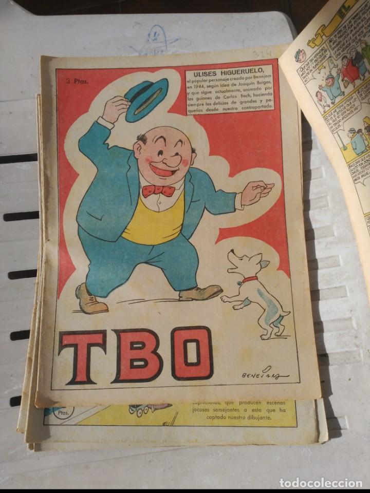 TBO 2ª ÉPOCA LOTE DE 7 NÚMEROS 6 ENTRE EL 322 Y 379 MÁS 465 ORIGINAL DE BUIGAS (Tebeos y Comics - Buigas - TBO)