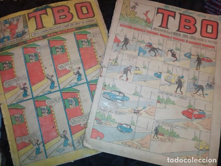 LOTE TBO SEGUNDA ÉPOCA N° 124 /N° 211 1958 ÚNICO? (Tebeos y Comics - Buigas - Otros)