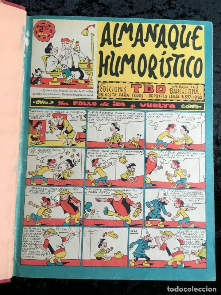 Tebeos: 5 TOMOS TBO - ALMANAQUES - ALMANAQUE HUMORÍSTICO - Foto 13 - 195589607