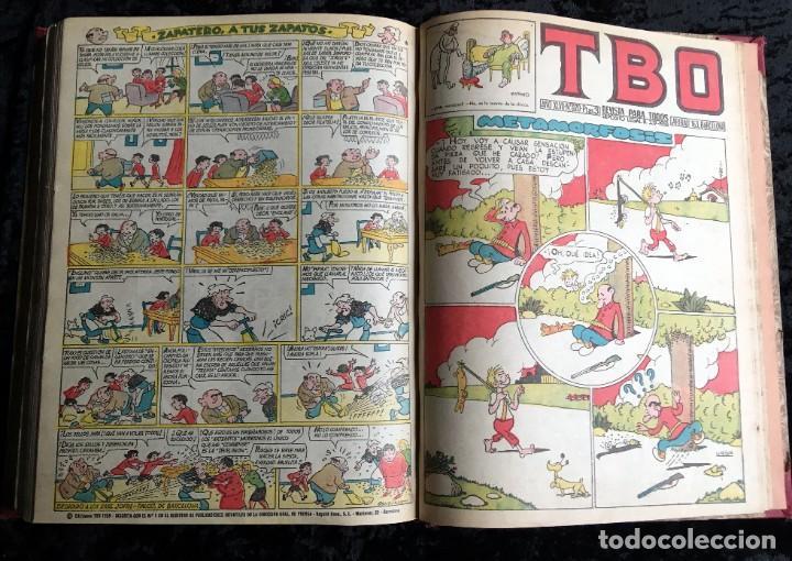 Tebeos: 5 TOMOS TBO - ALMANAQUES - ALMANAQUE HUMORÍSTICO - Foto 28 - 195589607