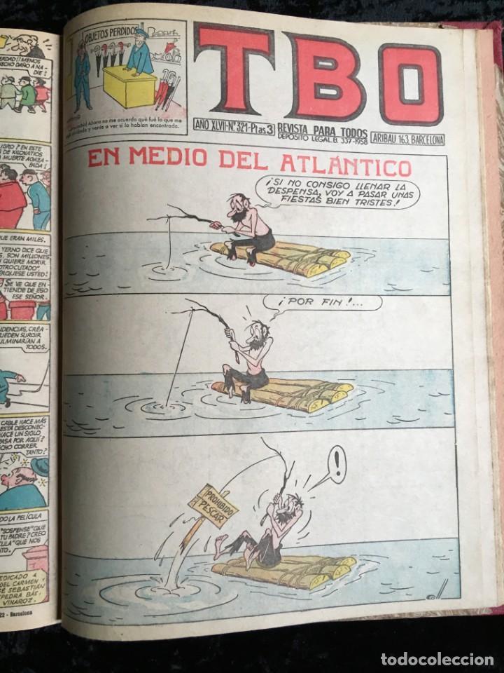 Tebeos: 5 TOMOS TBO - ALMANAQUES - ALMANAQUE HUMORÍSTICO - Foto 30 - 195589607