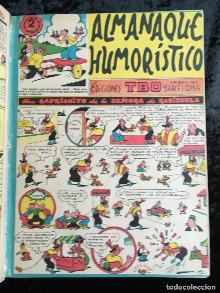 Tebeos: 5 TOMOS TBO - ALMANAQUES - ALMANAQUE HUMORÍSTICO - Foto 51 - 195589607