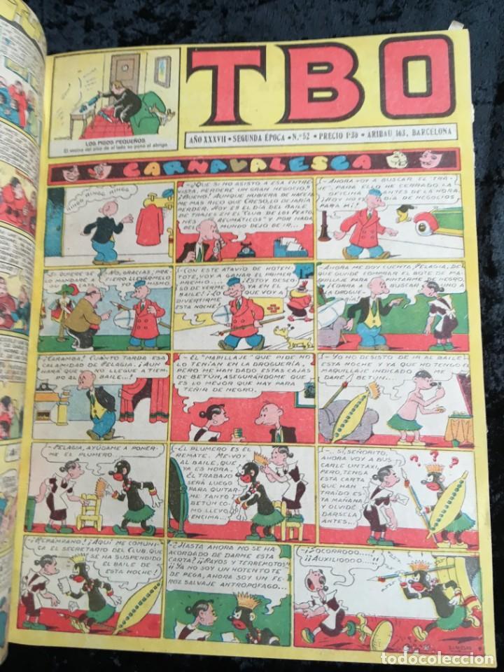 Tebeos: 5 TOMOS TBO - ALMANAQUES - ALMANAQUE HUMORÍSTICO - Foto 54 - 195589607