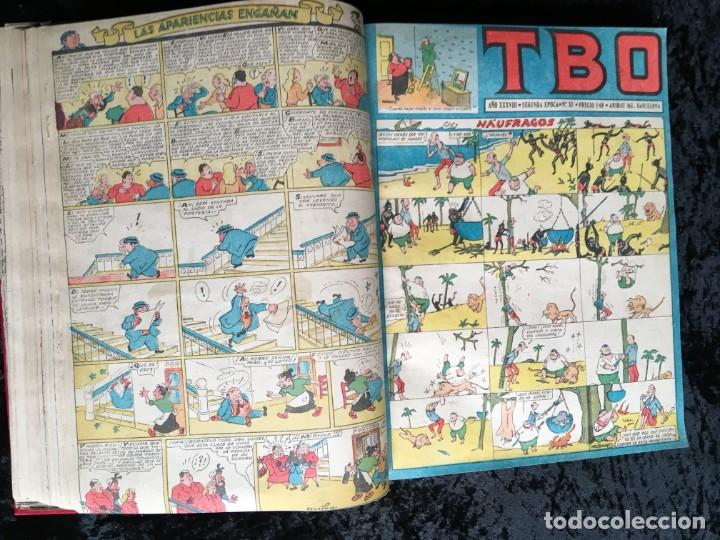 Tebeos: 5 TOMOS TBO - ALMANAQUES - ALMANAQUE HUMORÍSTICO - Foto 58 - 195589607
