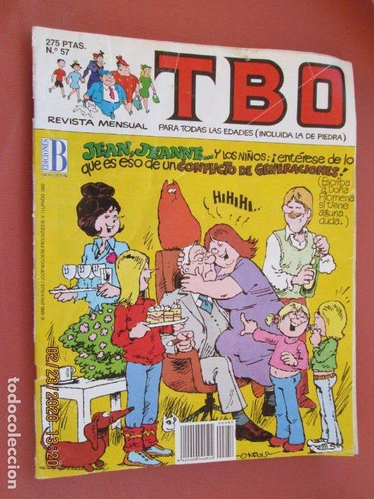 REVISTA TBO Nº 57 - EDICIONES B - 1988. (Tebeos y Comics - Buigas - TBO)