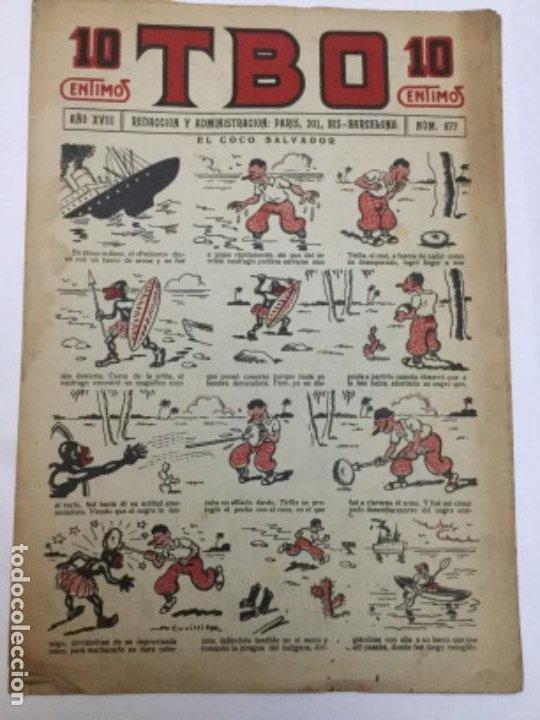 TBO- AÑO XVIII - 1934 - NUM.877 (Tebeos y Comics - Buigas - TBO)