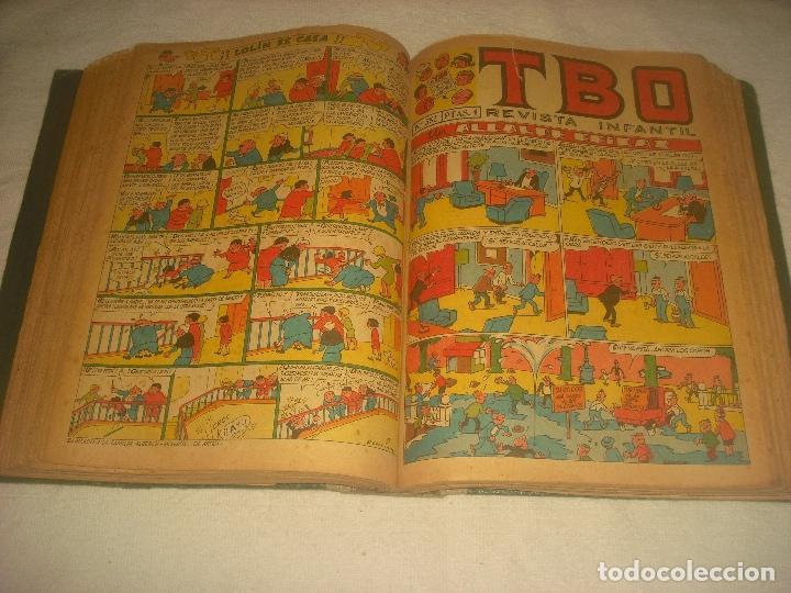Tebeos: TBO ,51 EJEMPLARES ENCUADERNADOS DE LOS NUMEROS 532 AL 583. - Foto 3 - 196249577