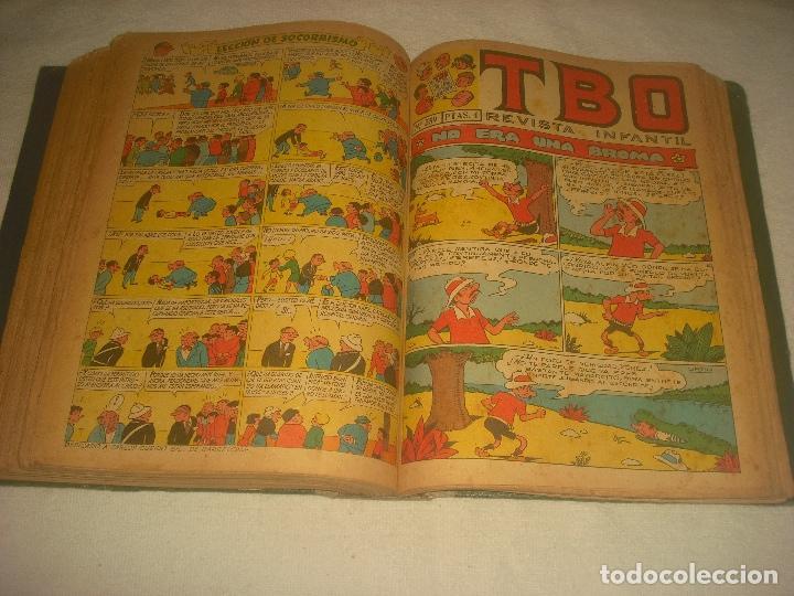 Tebeos: TBO ,51 EJEMPLARES ENCUADERNADOS DE LOS NUMEROS 532 AL 583. - Foto 4 - 196249577