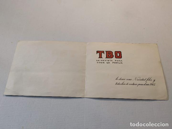 Tebeos: FELICITACIÓN NAVIDEÑA TBO PARA EL AÑO 1965 - Foto 2 - 196630907