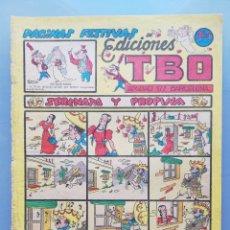 Tebeos: TBO - 2ª ETAPA ( 1941-1952 ) - PÁGINAS FESTIVAS DE ED.TBO - (AÑOS 1948~1949) - SIN NUMERAR - PJRB. Lote 196739373