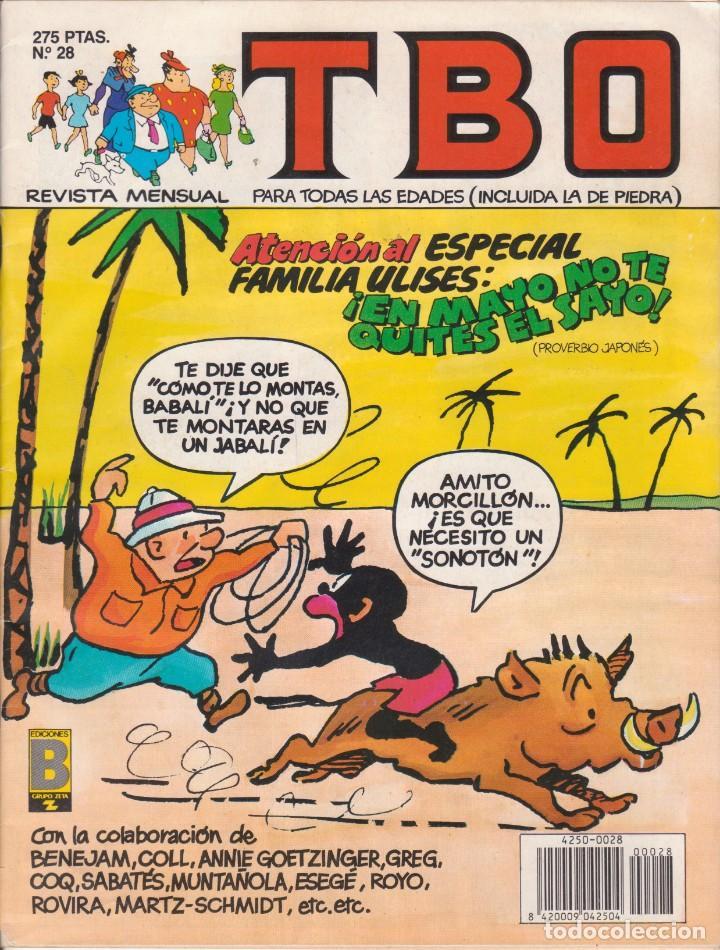 T B O Nº 28 EDICIONES B AÑO 1990 (Tebeos y Comics - Buigas - TBO)
