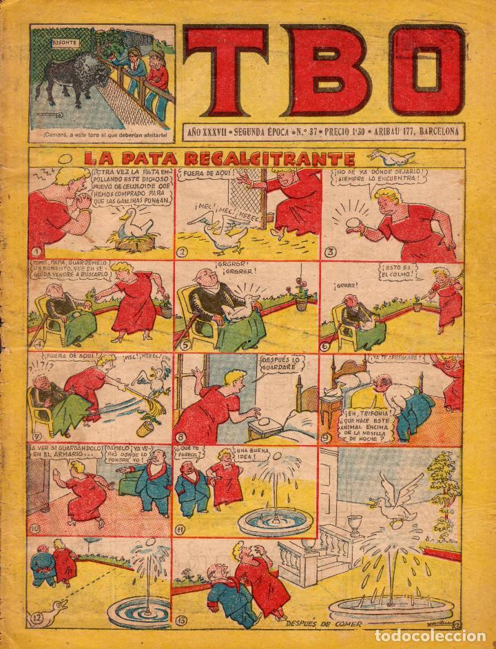 TBO. SEGUNDA ÉPOCA. AÑO XXXVII. NÚMERO 37 (Tebeos y Comics - Buigas - TBO)