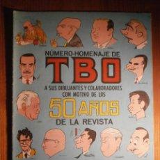 BDs: TBO - NÚMERO HOMENAJE - EXTRA, EXTRAORDINARIO A SUS DIBUJANTES Y COLABORADORES 50 AÑOS, BUIGAS 1965. Lote 204793536