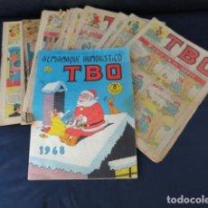 Tebeos: 25 REVISTAS CÓMICS TBO + ALMANAQUE 1968.. Lote 205598150