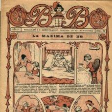 Tebeos: B.B.-92 ( BUIGAS, 1923) PRIMER TEBEO PARA NIÑAS EDITADO EN ESPAÑA POR T.B.O. DESDE 1920. Lote 205729950