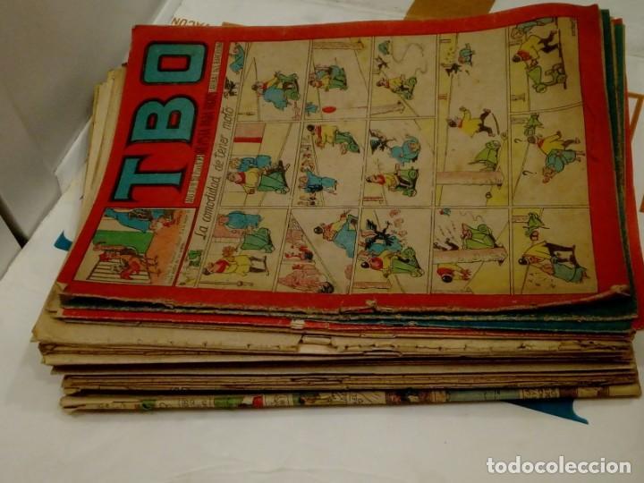 LOTE DE 37 TEBEOS TBO SEGUNDA EPOCA - EDICIONES TBO AÑOS 50 Y 60 -ENTRE LOS Nº 92 Y 762 (Tebeos y Comics - Buigas - TBO)