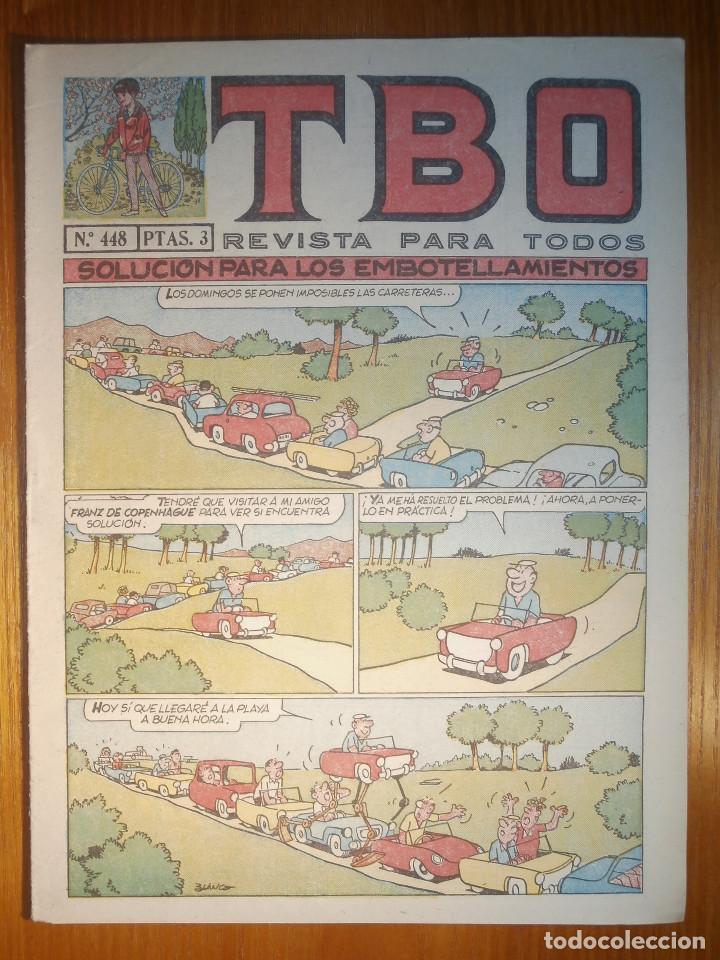 TEBEO - TBO - Nº 448 - BUIGAS - 27 DE MAYO DE 1966 - SOLUCIÓN PARA LOS EMBOTELLAMIENTOS (Tebeos y Comics - Buigas - TBO)