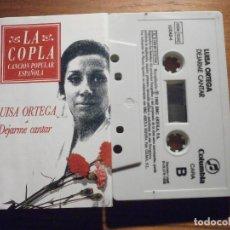 Tebeos: CINTA DE CASSETTE - LUISA ORTEGA - DEJARME CANTAR - LA COPLA - COMUNBIA 1992. Lote 207131586
