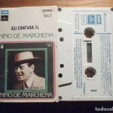 Tebeos: CINTA DE CASSETTE - NIÑO DE MARCHENA - ASI CANTABA EL - VOL.1 - EMI 1977. Lote 207133312