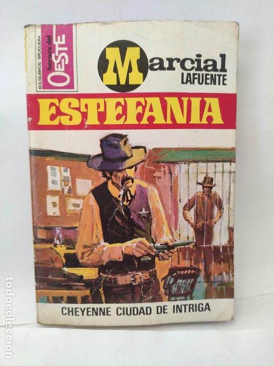 MARCIAL LAFUENTE ESTEFANIA. NOVELA OESTE. SERIE HOMBRES DEL OESTE. 743 CHEYENNE, CIUDAD DE INTRIGA (Tebeos y Comics - Buigas - Otros)