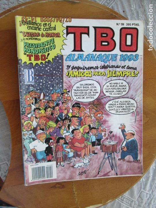 T B O , Nº 59 REVISTA MENSUAL EDICIONES B -1993-ALMANAQUE 1993 (Tebeos y Comics - Buigas - TBO)
