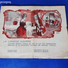 Livros de Banda Desenhada: LA CONDESA DUBARRY - EDITORIAL BUIGAS-TBO-1921-DONAZ. Lote 212819746