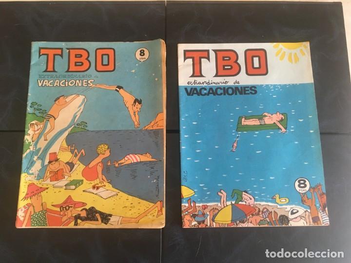 COMIC TBO EXTRAORDINARIO DE VACACIONES 1975 Y1976 (Tebeos y Comics - Buigas - TBO)