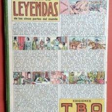 Tebeos: SELECCION DE LEYENDAS DE LAS CINCO PARTES DEL MUNDO - TBO - CA. 1940 - MONOGRAFICO. Lote 213350941