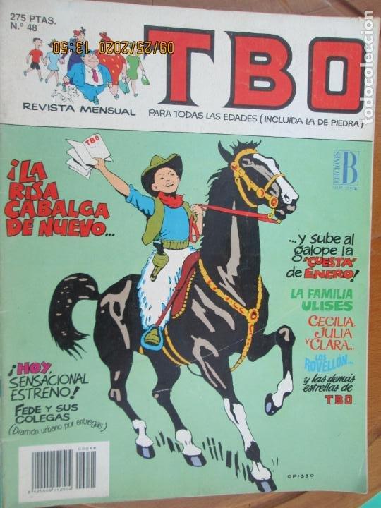 TBO , REVISTA MENSUAL Nº 48 , LA RISA CABALGA DE NUEVO EDICIONES B -1988 (Tebeos y Comics - Buigas - TBO)