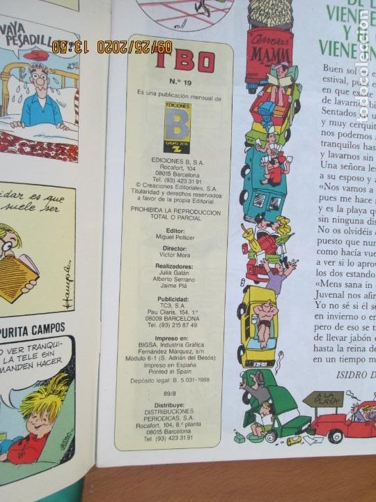 Tebeos: TBO Nº 19 - VAYASE DE FELICES VACACIONES - EDICIONES B 1988.- INCLUYE CUADERNILLO - Foto 2 - 218915940