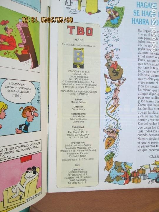 Tebeos: TBO , REVISTA MENSUAL Nº18 EDICIONES B 1988 INCLUYE CUADERNILLO - Foto 2 - 218916220