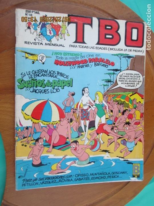 TBO , REVISTA MENSUAL Nº18 EDICIONES B 1988 INCLUYE CUADERNILLO (Tebeos y Comics - Buigas - TBO)