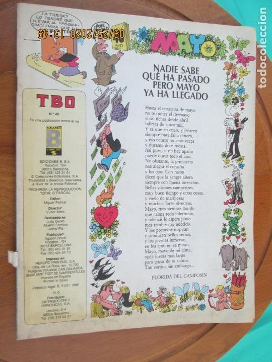 TBO , REVISTA MENSUAL Nº 40 EDICIONES B 1988 - INCLUYE CUADERNILLO (Tebeos y Comics - Buigas - TBO)